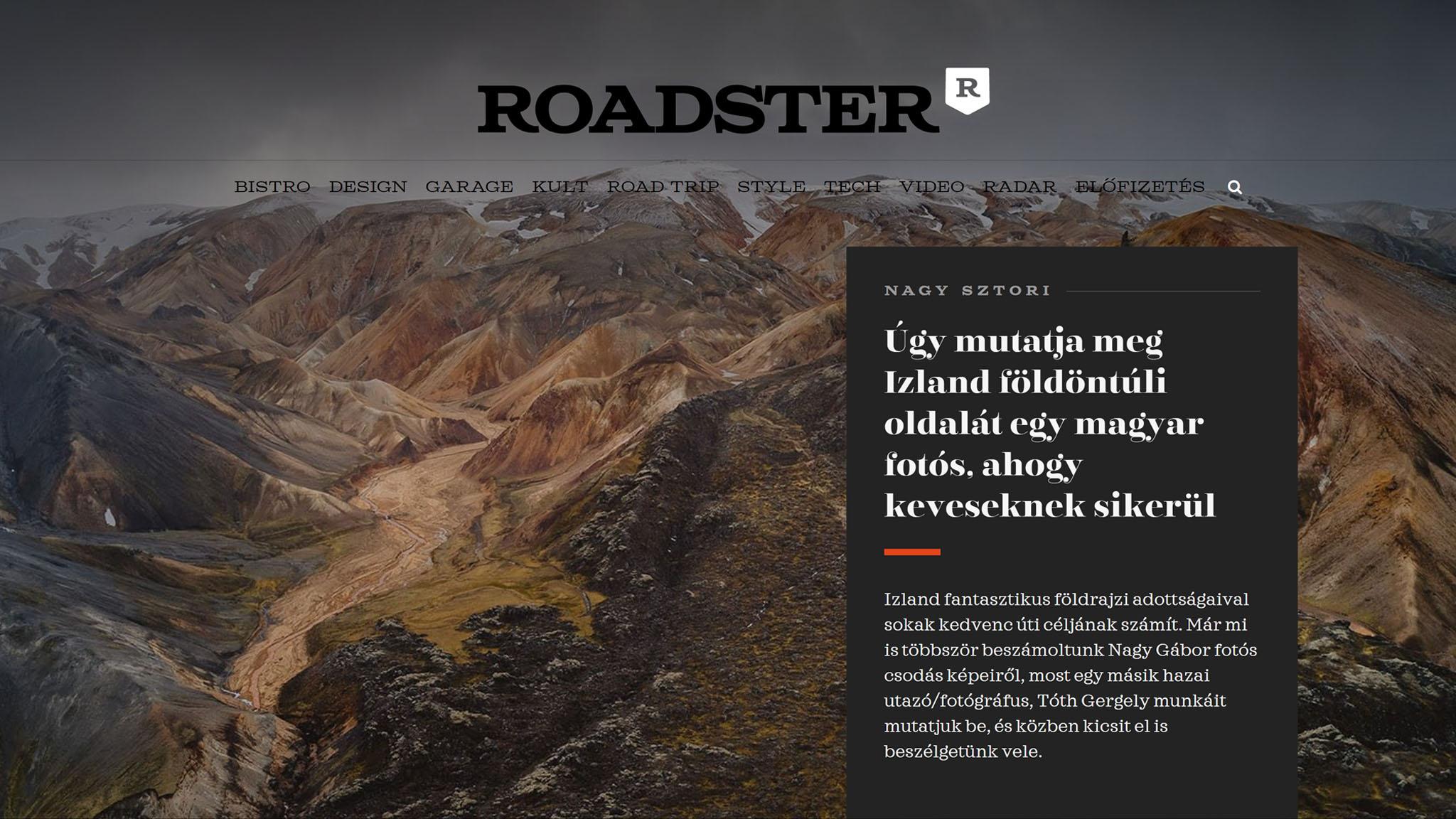 Roadster Magazine interview (HU) – HÁLENDI